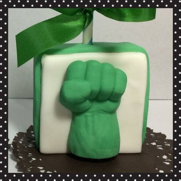 Molde Silicone Confeitaria E Biscuit Soco Hulk Grande Pm751