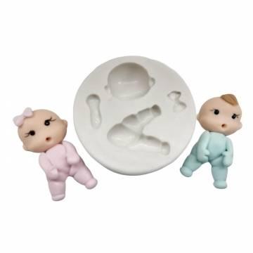 Molde de silicone Baby Macacão  -  1217
