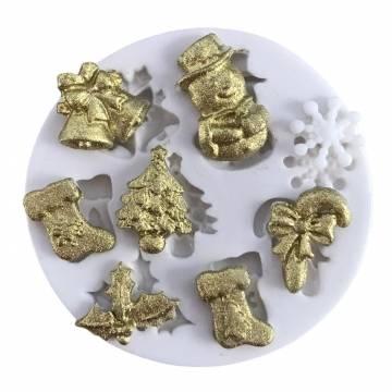 molde de silicone natal feliz  1221