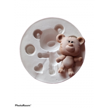 Molde de Silicone Urso Biel...
