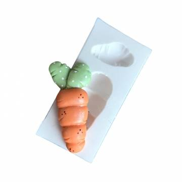 Molde de Silicone Cenoura...