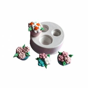 Molde de Silicone Vasos 3D...