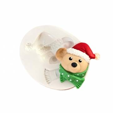 Molde de Silicone Urso Noel...