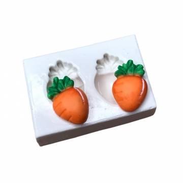 Molde de Silicone Cenouras...