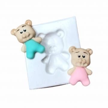 Molde de Silicone Mini Urso...