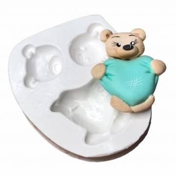 Molde de Silicone Urso...
