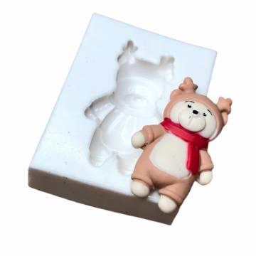 Molde de Silicone Urso Alce...
