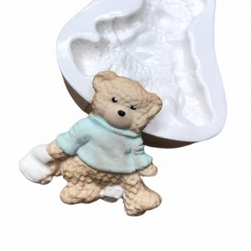 Molde de Silicone Urso com...