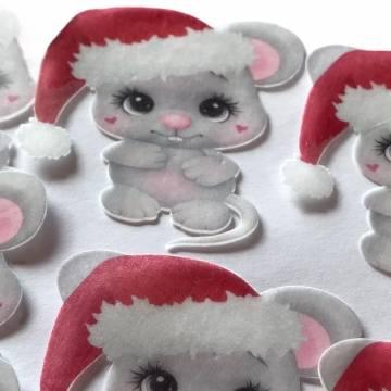Papel de Arroz Ratinho Noel...